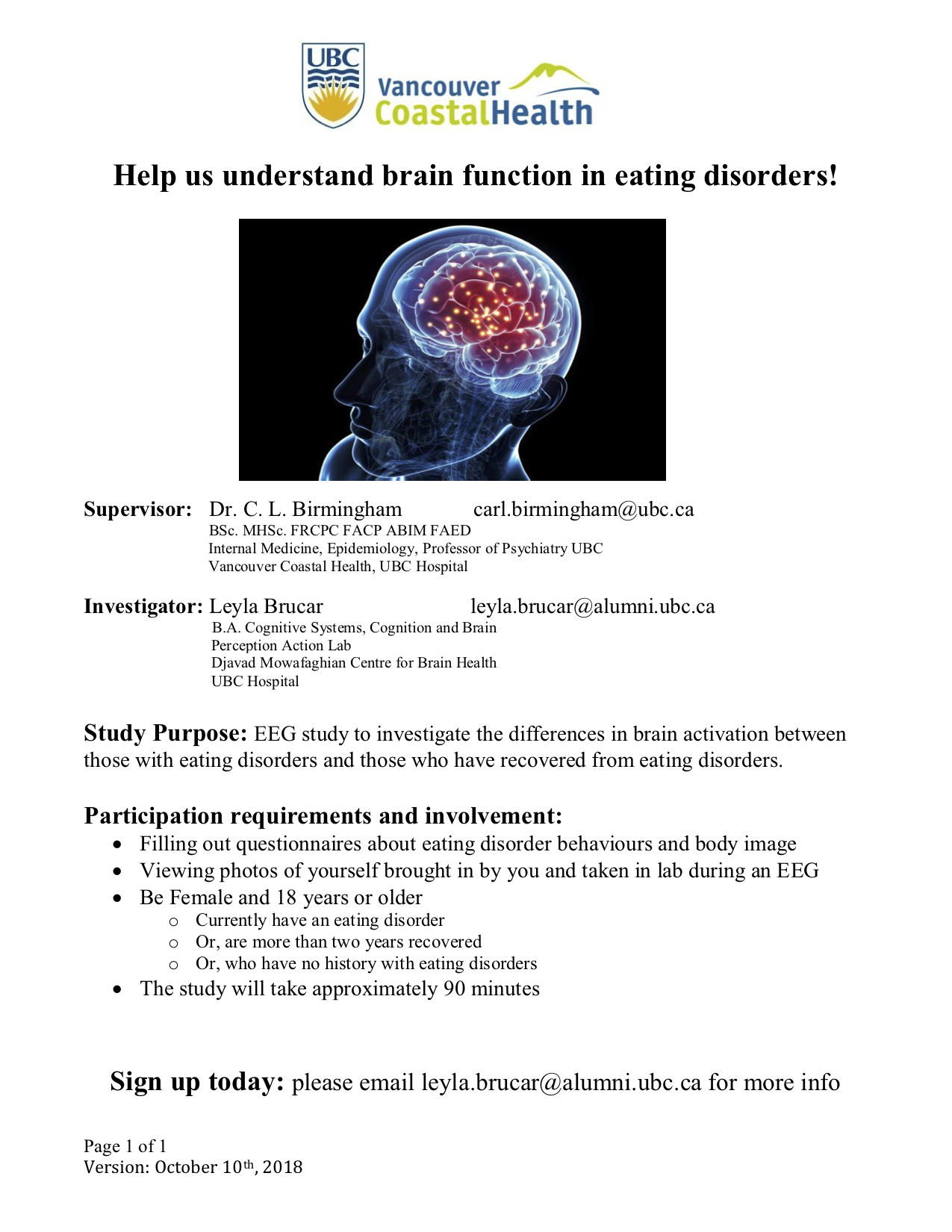Eating disorder study